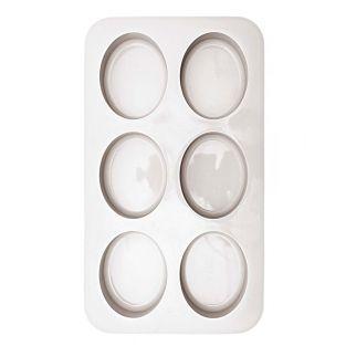 6 moules à savon ovale en silicone 8...