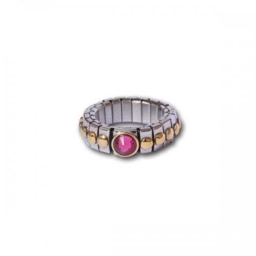 Ring w/ round pink stone