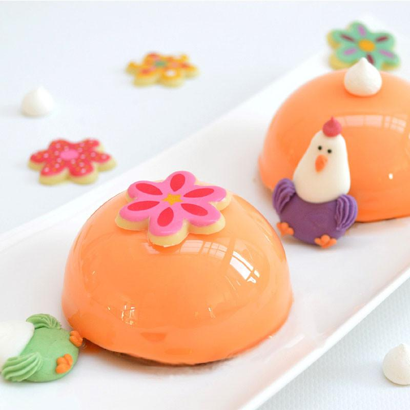 Easter Sugar decorations - Hens