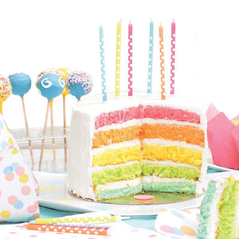 Kit rainbow cake + 7 couleurs de l'Arc-en-ciel (colorants naturels)