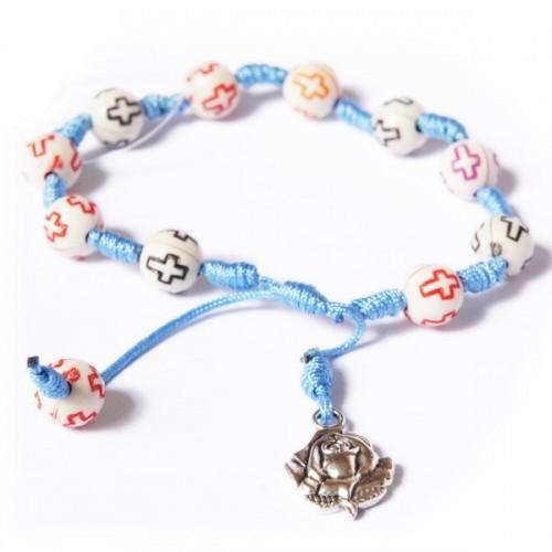 Wooden Bracelet w/ medal of the Virgin
