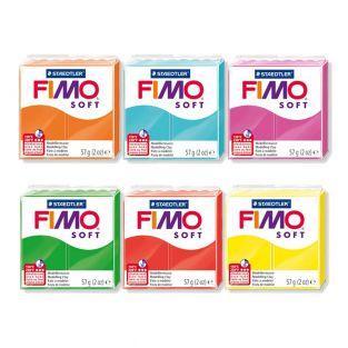 6 bloques de arcilla polimérica FIMO