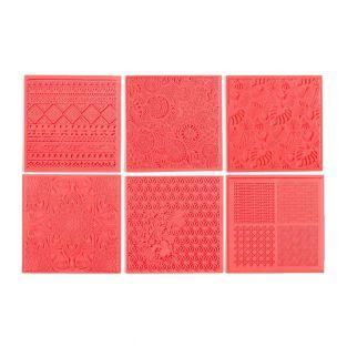 6 esteras de textura para FIMO