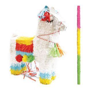 Piñata lama + bâton