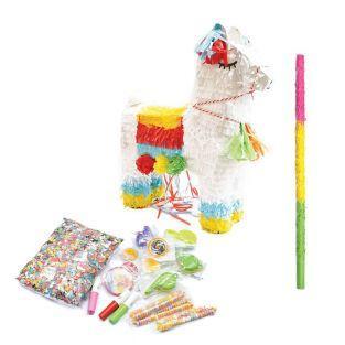 Piñata lama + palo + sorpresas