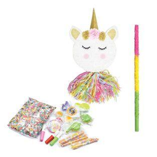 Piñata tête de licorne + bâton +...