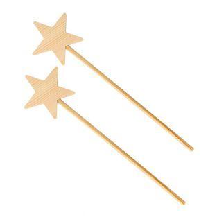 2 baguettes magiques en bois 23 cm