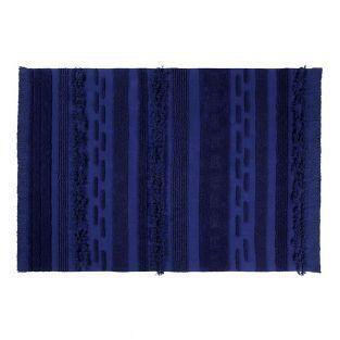 Baumwollteppich Alaska Stil - Blau -...