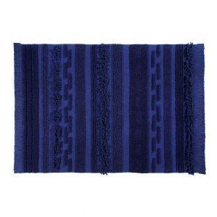 Tapis coton air alaska - bleu - 140 x...