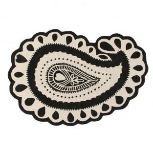 Wollteppich Gita - schwarz...