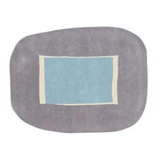Tapis laine lake - bleu - 140 x 180 cm