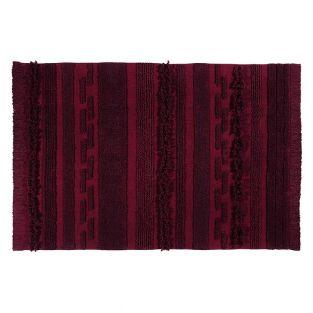 Cotton carpet Safari - red - 140 x 200