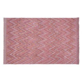 Tapis coton Terre Canyon - rose - 170...