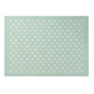 Wool carpet with little Star - mint...