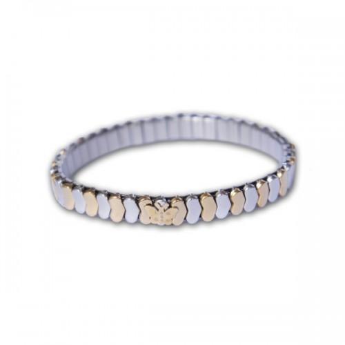 Bracelet w/ silver & gold Hearts links