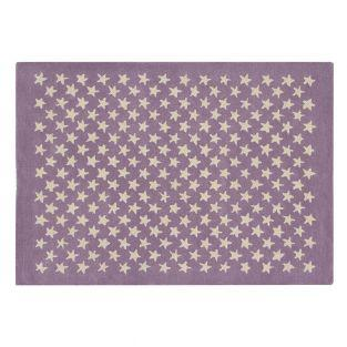 Wool carpet Little star pattern - old...