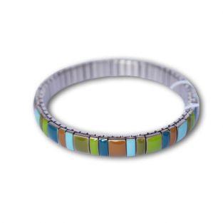 Bracelet métal multicolore à maillon étoile dorée