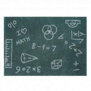 Tapis coton motif maths - 140 x 200