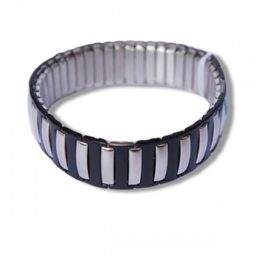 Bracelet homme métal et noir