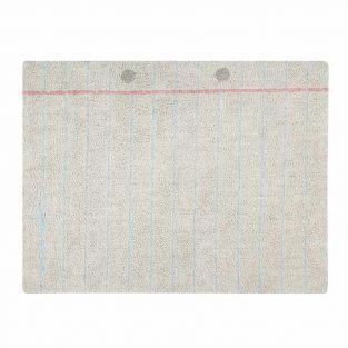 Tapis coton motif notebook -- 120 x 160