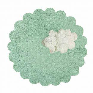 Tapis coton relief mouton - Ø 140
