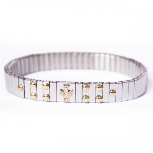 Bracelet métal à maillon Croix