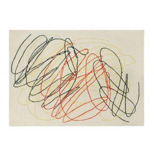 Alfombra de lana Scribble Multi - 170...