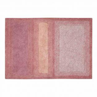 Cotton carpet Water - pink - 140 x 200
