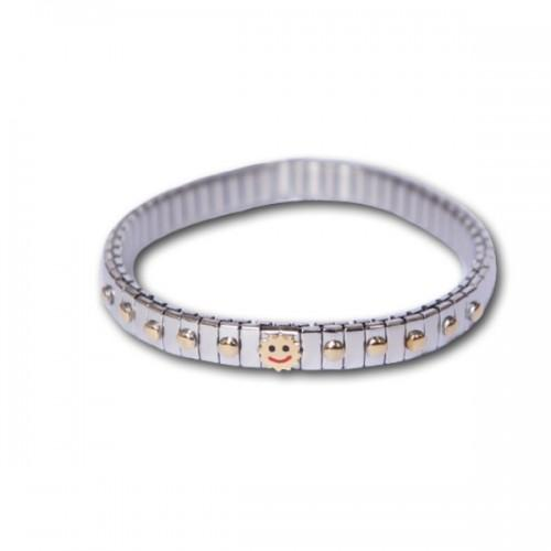 Metal bracelet w/ Smiley links