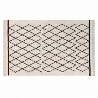 Cotton carpet Ber Criss - beige - 140...