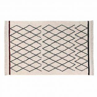 Cotton carpet Ber Criss  - beige -...