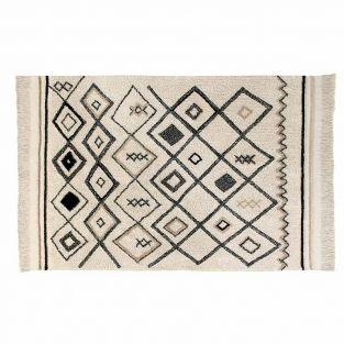 Cotton carpet Ber Ethnic - beige -...