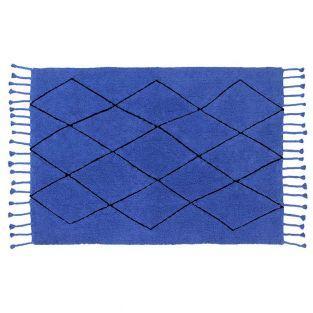 Cotton carpet Ber - sapphire - 140 x 200