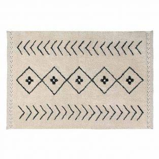 Cotton carpet Ber Rhombs - beige -...