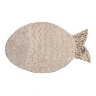 Baumwollteppich Fisch - beige - 110 x...