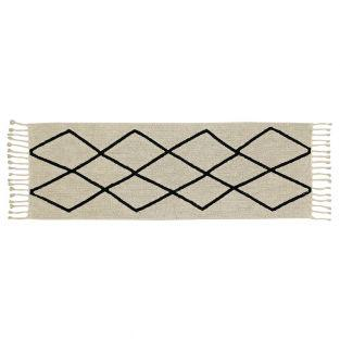 Cotton carpet Ber - beige - 80 x 230