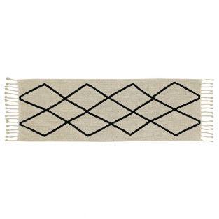 Tapis coton Ber - beige - 80 x 230
