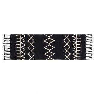 Baumwollteppich Ber - schwarz - 80 x 230