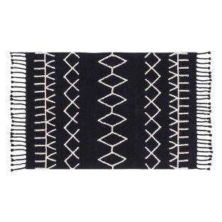 Tapis coton Ber - noir -140 x 200