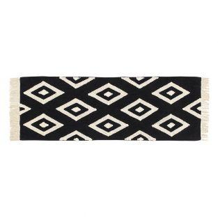 Cotton carpet with Diamond pattern -...