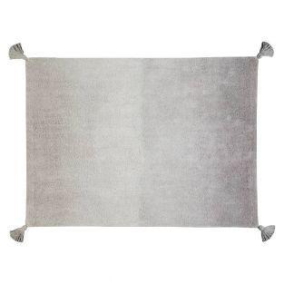Tapis coton motif Dégradé - gris-bleu...