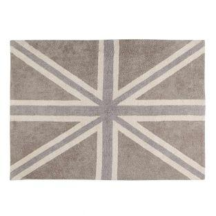 Cotton carpet with UK Flag - linen &...