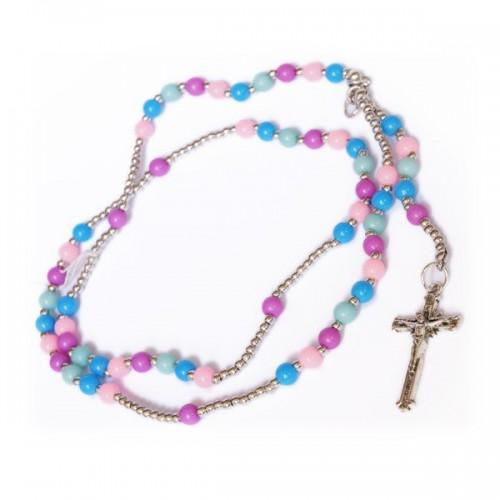 Multicolor rosary Collar
