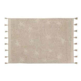 Tapis coton motif star - beige - 120...