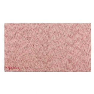 Tapis coton motif fusion - rose - 140...