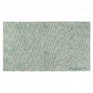 Tapis coton motif fusion - vert - 140...