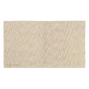 Tapis coton motif fusion - beige -...