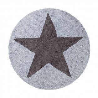 Tapis coton réversible une étoile -...