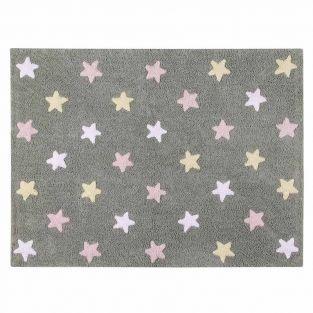Tapis coton motif petites étoiles 3...