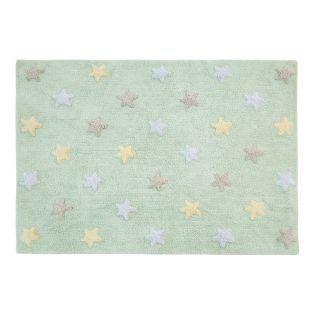 Baumwollteppich mit kleinen Sternen 3...